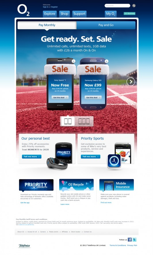 O2 January Sale - Pay Monthly