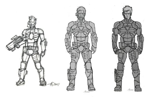 3 Initial concepts of the Mercenary